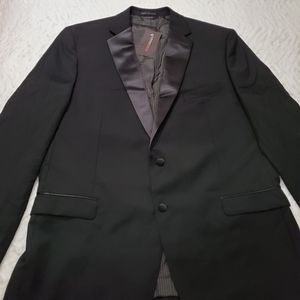 Calvin Klein 100% Wool Stretch Tuxedo Jacket 46L
